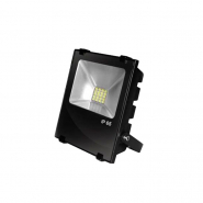 Прожектор EUROELECTRIC LED SMD чорний з радіатором 20W 6500K (10) снят пр-ва
