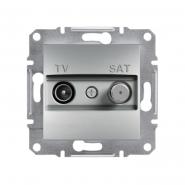 Розетка конц. TV-SAT алюминий ASFORA