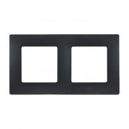 Рамка 2-я антрацит ETIKA цвет антрацит (черный)