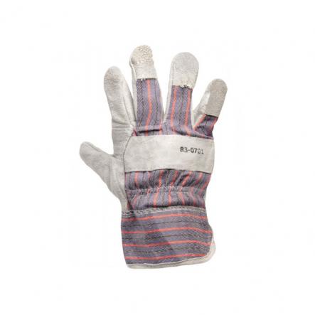 Перчатки комбин. из замша и ткани, сшивная ладонь 10,5 - 1