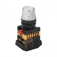 Кнопка  ABLF-22 белая d22мм неон/240В 1з+1р ИЭК