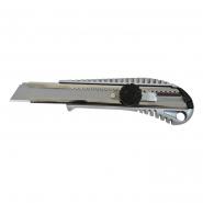 Нож с крутящимся фиксатором упрочненный металлический, 18мм