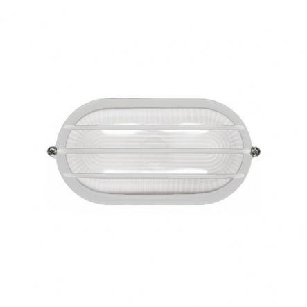 Светильник НПП 1206 белый-овал 100 Вт.IP54 с решеткой - 1
