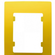 Рамка одинарная горизонтальная желтая Lillium