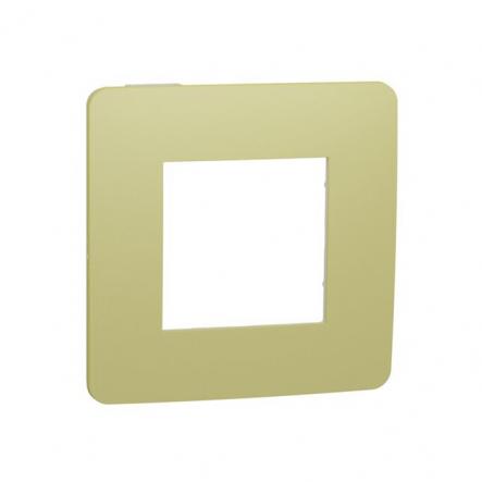 Рамка однопостовая Schneider Electric NU280211 (зеленое яблоко/белый) - 1