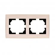Рамка 2-я горизонтальная крем  Lezard серия RAIN