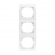 Рамка тройная вертикальная белый DERIY LEZARD