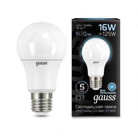 Лампа Gauss LED A60 16W E27 4100K - 1