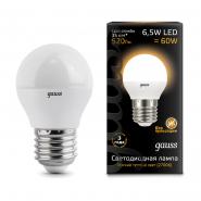 Лампа Gauss LED Black G45 6,5W E27 2700K