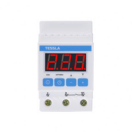 Терморегулятор TESSLA на DIN-рейку для систем обогрева,охлаждения,вентиляции 32 А, 7кВТ DTPpro - 1