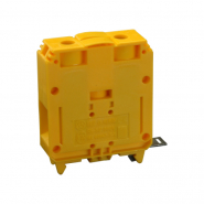 Клеммная колодка однорядная   RS 120/3 желтая