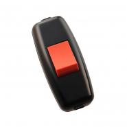 Выключатель навесной черно-красный на бра LEZARD