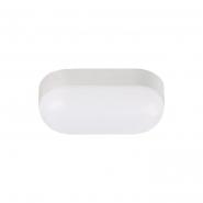Светильник влагозащитный пластиковый овал 8Вт бел.4200К ІР65 560Lm 166*76мм HOROZ