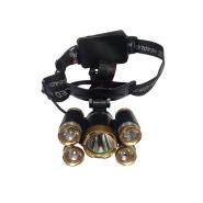 Фонарь LUMANO налобный LED 7W АКБ 4режима,задний стоп,стробоскоп,5линз,2*АА,водостойкий,ремешок