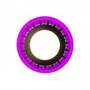 "LED панель Lemanso ""Грек"" 6+3W с розовой подсветкой 540Lm 4500K 175-265V / LM555 круг"