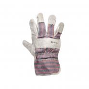 Перчатки комбин. из замша и ткани, сшивная ладонь 10,5