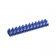 Зажим винтовой ЗВИ-15 н/г 4.0-10мм2 12пар ИЕК  синий