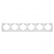 Рамка  шестерная Кармен белый VIKO Серия CARMEN