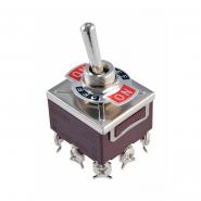 Тумблер KN3C-303 (AA)-BN ON-OF-ON 9p 15A 250V АСКО