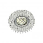 Светильник точечный SMD3014 10 LEDS (6500K) прозрачный с подсветкой RGB