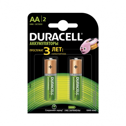 Аккумулятор Duracell HR6 (AA) 1300 mAh - 1