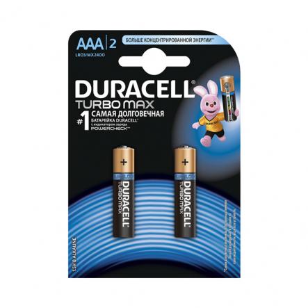 Батарейка Duracell turbo LR03 1.5V алкалиновая MX2400 - 1
