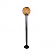 Светильник-столбик (1м) 325 плафон: шар дымчатый ребристый  220В / 40Вт