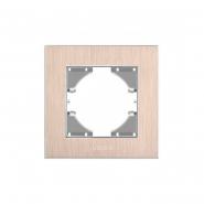 Рамка медный алюминий одинарная горизонтальная VIDEX BINERA