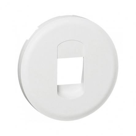 Лицевая Панель Розетки аккустической одинарная белый Legrand - 1