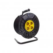 Катушка до 50м кабеля 4 гнезда с крышками 16A с/з Lemanso / LMK72005 защита от перегрузки(без кабелю