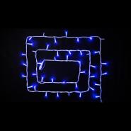 Гирлянда внеш_DELUX_STRING_100LED 10m (2*5m) 20 flash синий/бел IP44 EN