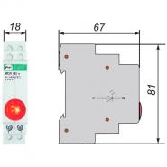 Сигнальная арматура модульная ЛСМ Промфактор ВК832 К светодиодная красная 220В