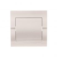 Выключатель 1-кл. жемчужно-белый металлик DERIY