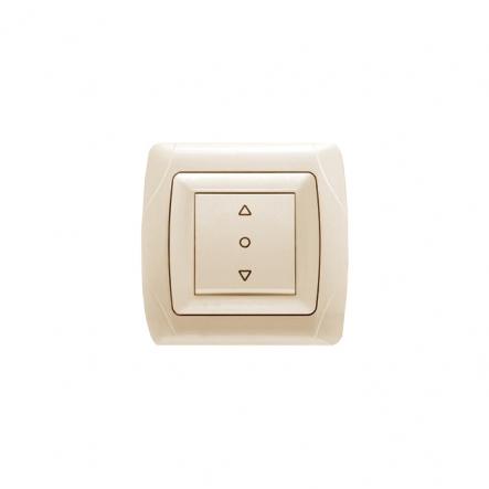 Выключатель кнопочный для управления жалюзи крем VIKO Серия CARMEN - 1