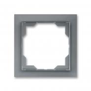 Рамка одинарная Neo белый/серый лед