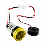 Амперметр цифровой ED16-22AD 0-100A (желтый) врезной монтаж