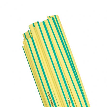 Трубка термоусадочная ТТУ 50/25 жёлто-зеленая 25м/рул ИЕК - 1