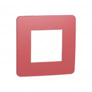 Рамка однопостовая Schneider Electric NU280213 (красный/белый)