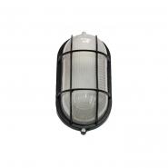 Светильник влагозащитный MIF 022 60W овал черный с решеткой