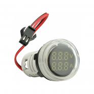 Амперметр+вольтметр круглый цифровой универсал.ток + напряж. ED16-22 VAD 0-100А 50-500В(белый)врезн.