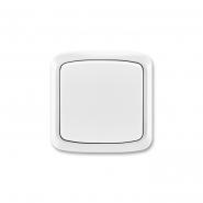Выключатель одноклавишный белый скрытый проходной IP 44 Tango(10А,250В)