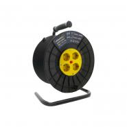 Катушка до 50м кабеля 4 гнезда 16A с/з Lemanso / LMK72001 защита от перегрузки (без кабелю та вилки)