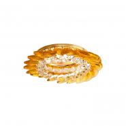 Светильник точечный MR-16 CD2313 50W прозрачный желтый/золото