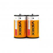 Батарейка R20  2mini bl VIDEX