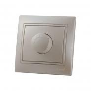Светорегулятор 1000W жемчужно-белый перламутр со вставкой MIRA.