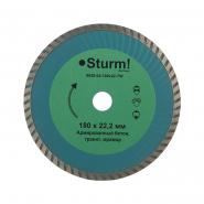 Алмазный диск сегментный STURM ТурбоWawe d=180mm
