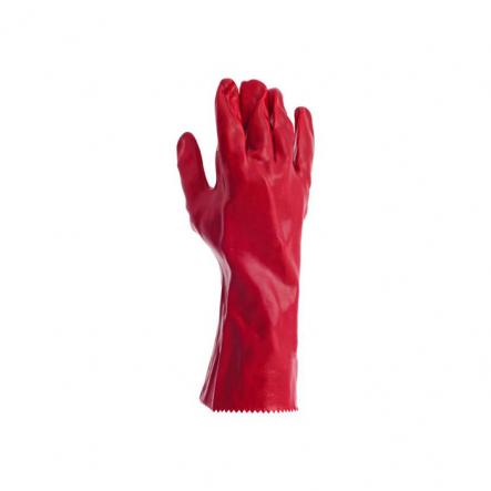 Перчатки кислотост., х/б трикотаж,полное ПВХ покрыт. манжет краг - 1