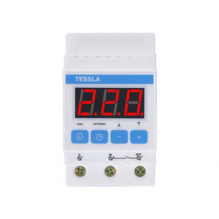Терморегулятор TESSLA на DIN-рейку для теплого пола 32 А, 7кВТ DTR - 1