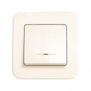 Выключатель 1кл. с подсветкой крем ROLLINA VIKO