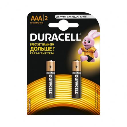 Батарейка Duracell Basic LR03 AAA/MN2400 KPN алкалиновая - 1